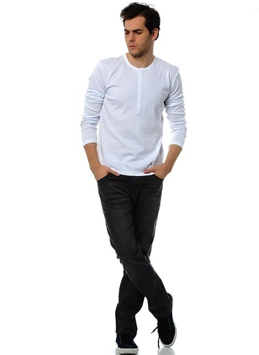 T-Box Sweatshirt Beyaz
